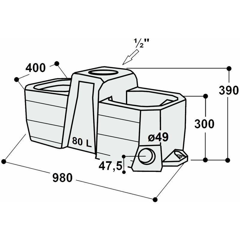 SUEVIA Lauftstall WT80 und Weidetränke 80 Liter Mod