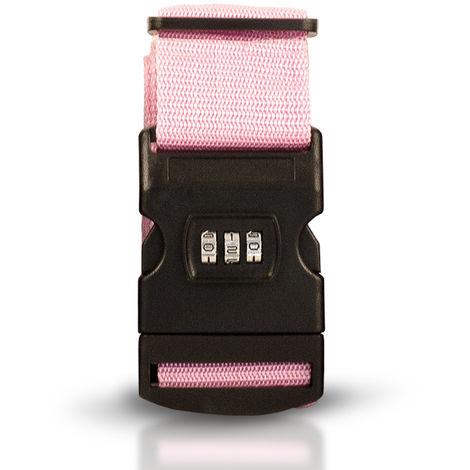 Suitcase Strap Luggage Belt Buckle Baggage Travel Combination Lock Adjustable Rose