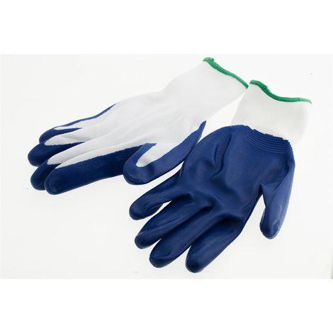 Suki Handschuhe, Arbeitshandschuhe Nylon, Nitril mit Bund Gr. 8 - Nr.: 1801980