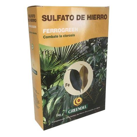 Sulfato de Hierro para Clorosis y Caída de Hojas FERROGREEN Greendel 1 kg
