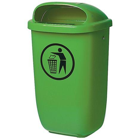 SULO Abfallbehälter H650xB395xT250mm 50l grün SULO