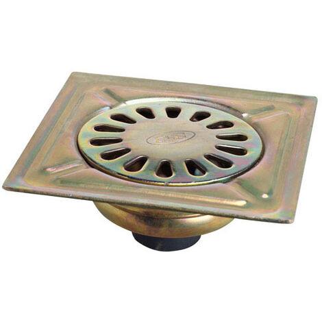 Sumidero Acero Bicromatado 100x100 mm. Toma de 40 mm.
