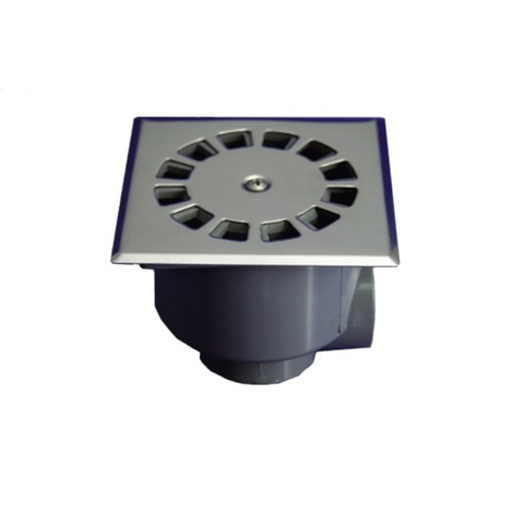 Sumidero evac sifon 10x10cmØ50-40 ve/ho inox t871 hidrot