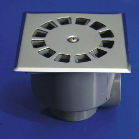 Sumidero sifónico inoxidable t-87 10x10 50-40 v-h