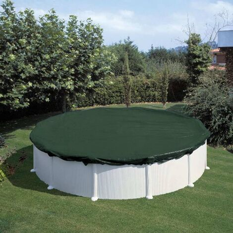 Summer Fun Couverture de piscine d'hiver Ronde 300 cm PVC Vert