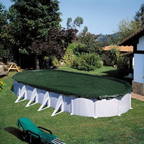 Summer Fun Cubierta de piscina ovalada para invierno PVC verde 525 cm