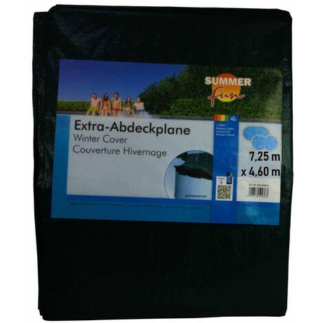 Summer Fun Cubierta de piscina ovalada para invierno PVC verde 725 cm