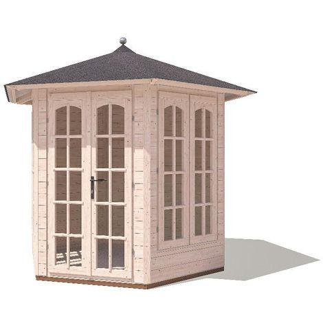 Summerhouse Vantage - Garden Summer Furniture Storage Toughened Glass Windows and Roof Felt