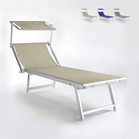 Sun bed beach sea garden aluminum sundeck MAIORCA