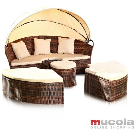 sun island rattan sun lounger poly lounge seating group lounger garden furniture shell