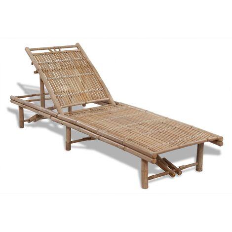 Sun Lounger Bamboo