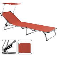 Sun Lounger Beach Mat Sylt Adjustable Sun Shield Colour Choice
