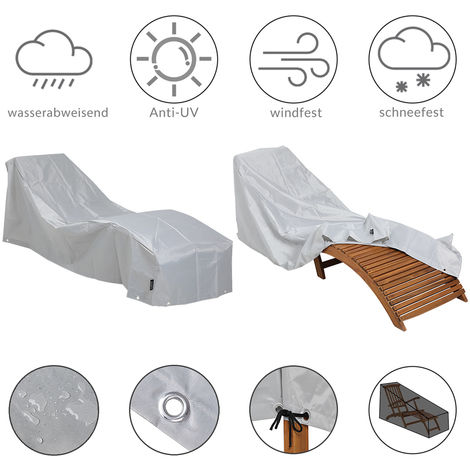 Sun Lounger Cover 420D Oxford Protective Covering Patio Protection Tarpaulin Abdeckung Sonnenliege (de)