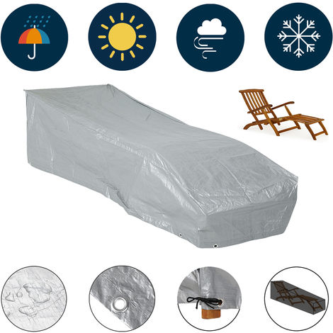 Sun Lounger Cover Deckchair Protective PE Covering Protection Tarpaulin Patio