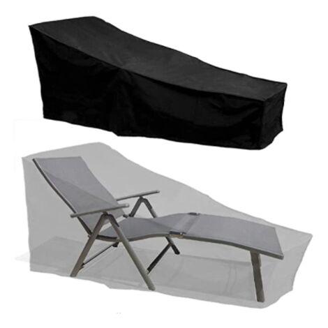 Sun lounger Cover Waterproof Outdoor Garden Patio 420D Sunbed Cover Protector Black