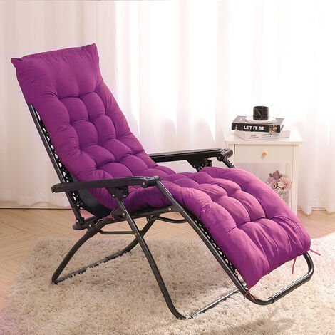 """main image of """"Sun Lounger Cushion Pad Garden In/Outdoor Recliner Chair Seat Pads"""""""