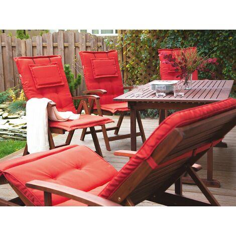 Steamer Cushions Sun Lounger Garden Chair Recliner Lounger Pads Water Repellent