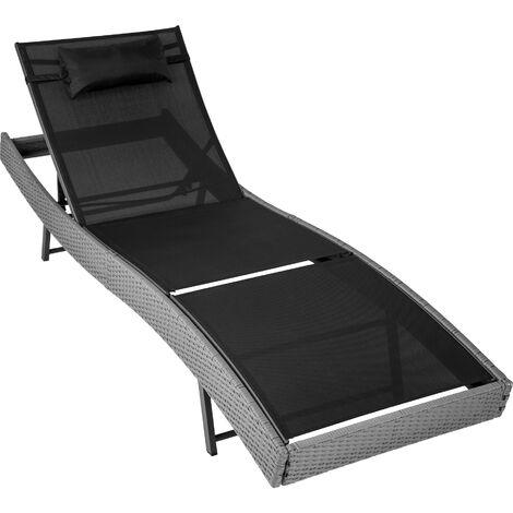 Amazing Sun Lounger Delphine Rattan Reclining Sun Lounger Garden Caraccident5 Cool Chair Designs And Ideas Caraccident5Info