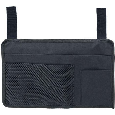 Sun Lounger Organiser Bag 3 Pockets Black Water Resistant Holiday Garden 37cm