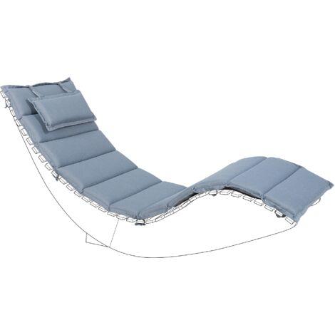 Sun Lounger Pad Cushion Blue BRESCIA
