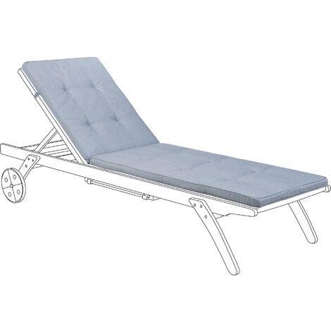 Sun Lounger Pad Cushion Blue CESANA