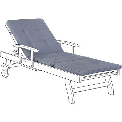 Sun Lounger Pad Cushion Blue TOSCANA/JAVA