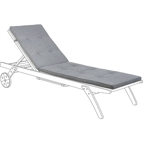 Sun Lounger Pad Cushion Grey CESANA