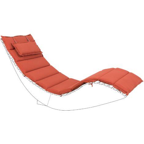 Sun Lounger Pad Cushion Red BRESCIA