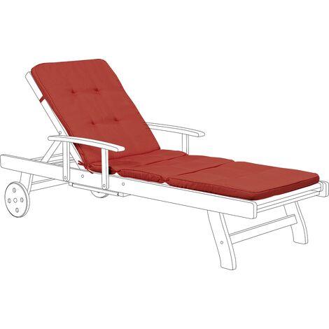 Sun Lounger Pad Cushion Red TOSCANA/JAVA II