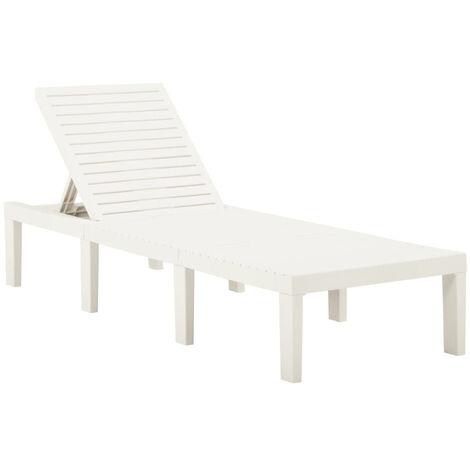 "main image of ""Sun Lounger Plastic White"""