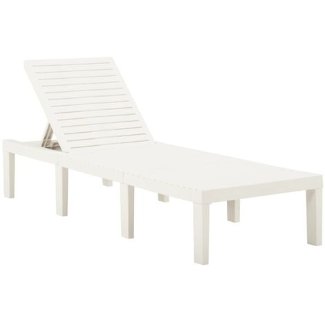 """main image of """"Sun Lounger Plastic White25403-Serial number"""""""