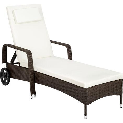 Sun lounger rattan - reclining sun lounger, garden lounge chair, sun chair