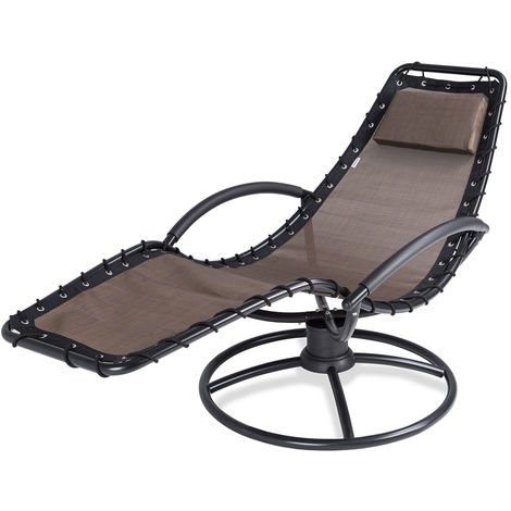 Sun Lounger Recliner Garden Relax Modern Chair Relaxing Reclining Day Bed Seat