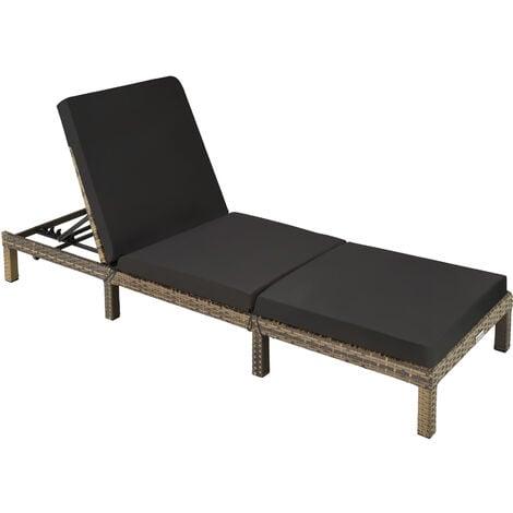 Sun lounger Sofia rattan - reclining sun lounger, garden lounge chair, sun chair