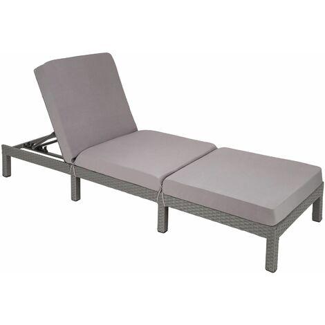 """main image of """"Sun lounger Sofia rattan - reclining sun lounger, garden lounge chair, sun chair"""""""