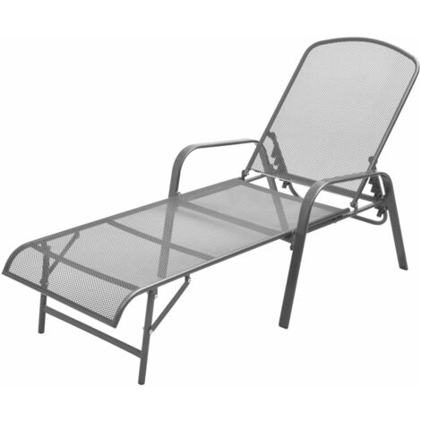 Sun Lounger Steel Anthracite