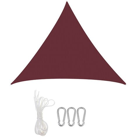 Sun Shade Mesh Canopy Awning Screen Outdoor Kennel Fence Red Triangle 3M