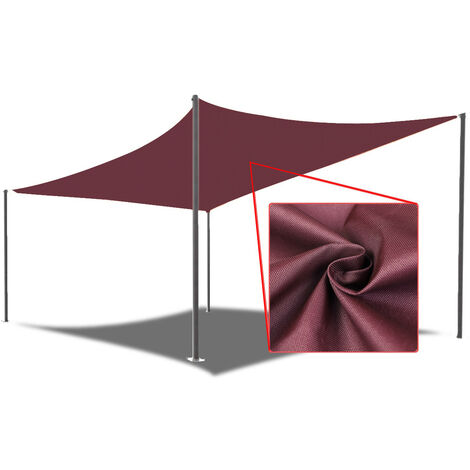 Sun Shade Mesh Canopy Rectangle 4X3M Red Protection Shelter 98% UV Blocking Gazebo Garden Outdoor