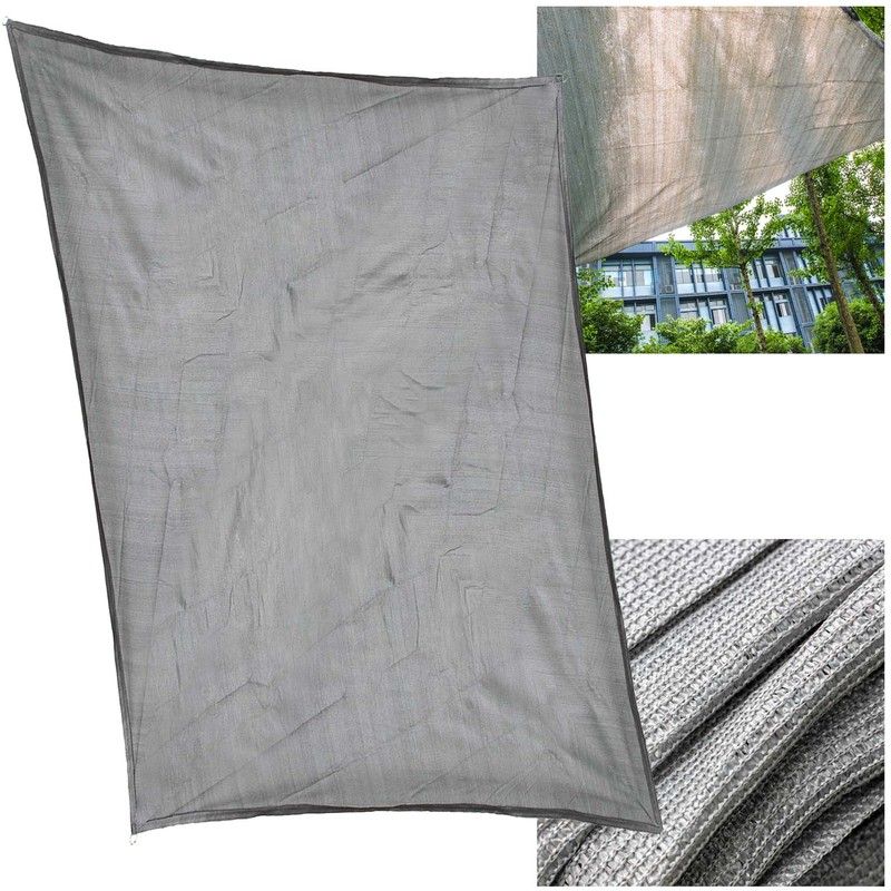 Sun Shade Sail Garden Patio Sunscreen Awning Hdpe Canopy Grey 2x3m Rectangle