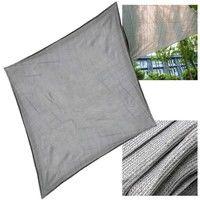 Sun Shade Sail Garden Patio Sunscreen Awning HDPE Canopy Grey 4x4m Square