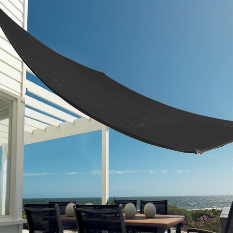 Sun Shade Sail Garden Patio Swimming Pool Awning Canopy Sunscreen UV Outdoor Black Square 3X2.5M