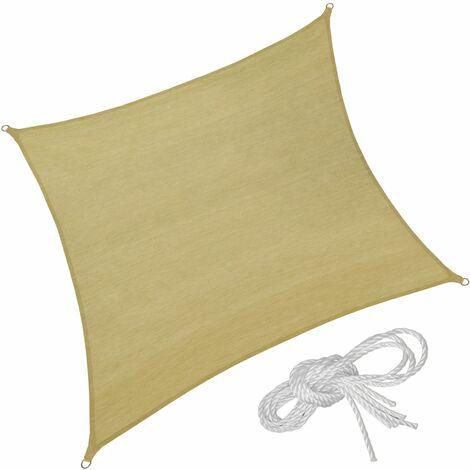 Sun shade sail square, variant 1 - garden sun shade, garden sail shade, sun canopy