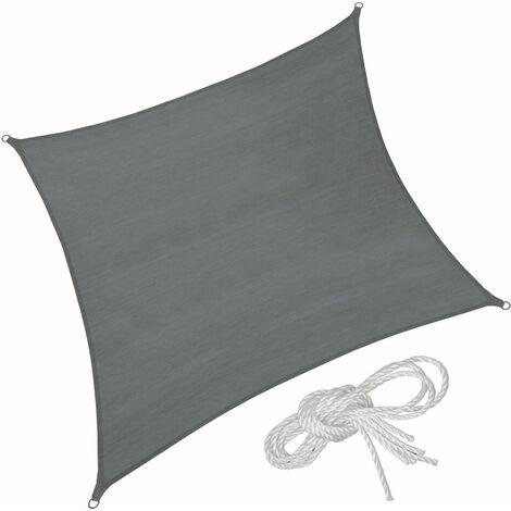 Sun shade sail square, variant 2 - garden sun shade, garden sail shade, sun canopy