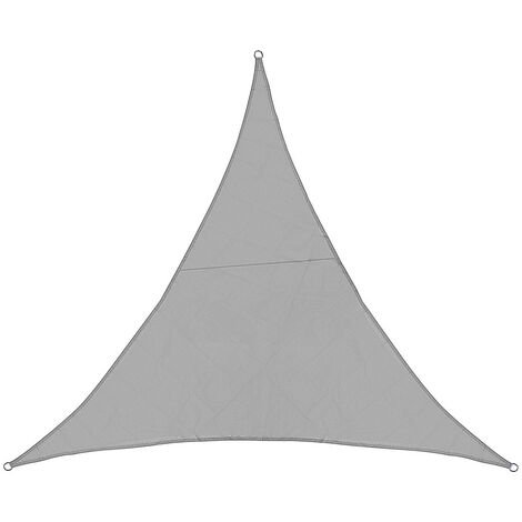 Sun Shade Sail Waterproof 420D Oxford Polyester Canopy Cover gray Triangle 5x5x5m