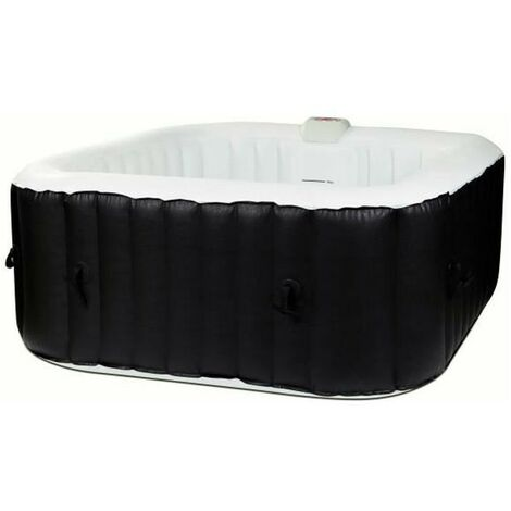 SUN SPA Spa gonflable carre Laminee - 4 personnes - 1, 55 x H 0, 65 m