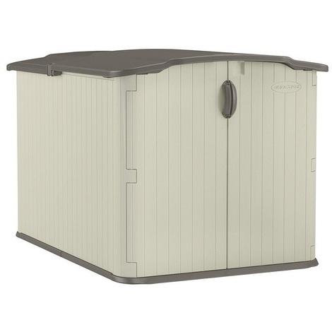 Suncast - Coffre de rangement PVC multifonctions toit coulissant - SUWG4912