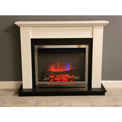 Suncrest Antigua Electric Fireplace Fire Heater Heating Real Log Effect Remote