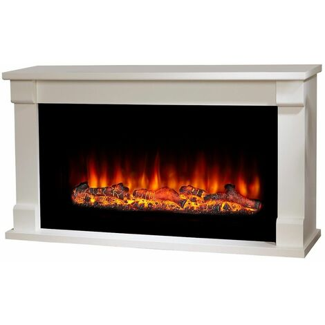 Suncrest Bradbury Electric Fireplace Fire Heater Heating Real Log Effect Remote