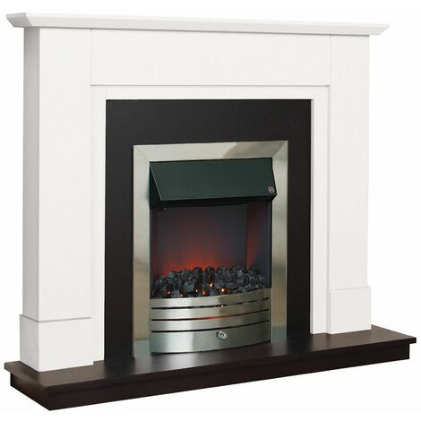 Suncrest Coniston Electric Fireplace Fire Heater Heating Real Coal Effect Black