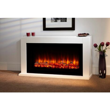 Suncrest Lumley Electric Fireplace Fire Heater Heating Real Log Effect Remote